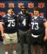 Boots Ellet, Isaiah Golonka and Jackson Roby at Auburn Football Junior Day